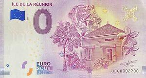 BILLET-0-EURO-ILE-DE-LA-REUNION-FRANCE-2018-NUMERO-2200