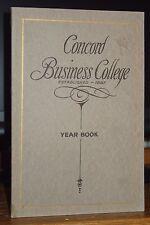 1913 Year Book Of The Concord Business College, Concord, New Hampshire, RARE