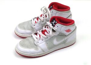 f73d85de799e7 Nike Air Jordan 1 Retro Hare White True Red 719554-123 Size 7 Youth ...