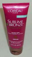 L'oreal Sublime Bronze Medium Wash-off Body Makeup Lotion 2 Oz/60ml