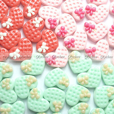 DIY New  Cabochons Crafts Flower Love Cookies Resin Flatback Scrapbooking