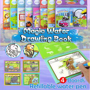 Animals-Magic-Doodle-Painting-Board-Coloring-Pamphlet-Water-Drawing-Book