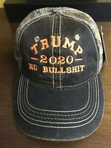 2020 TRUMP NO BULL $HIT CAMO White Embroidery Trump 2020 Cap REALTREE XTRA 2020