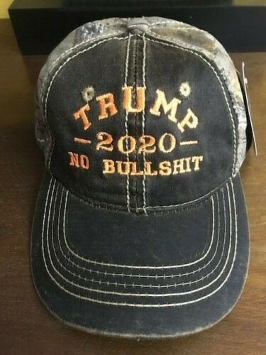 2020 TRUMP NO BULL $HIT CAMO Orange Embroidery Cap REALTREE XTRA