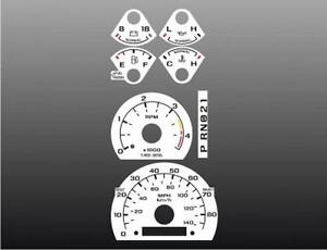 1992-1996-Ford-Truck-Diesel-Dash-Cluster-White-Face-Gauges-92-96