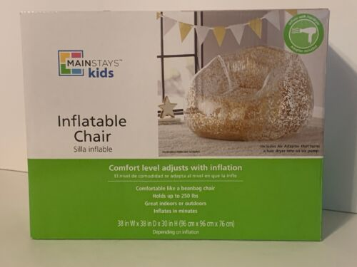 Mainstays Kids Inflatable Chair Comfortable Flashy NEW!!! Girls Love It