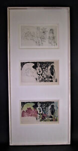Jacques COLAS-GUÉRIN (*1927 Paris) - 3 Stiche FKK - signiert, nummeriert 3/16