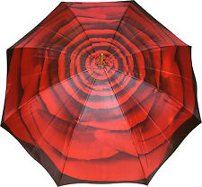 Artbrollies Stick Umbrella - Red Rose
