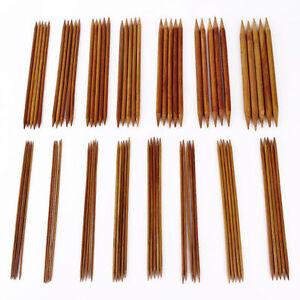 75pcs-15size-7-9-034-20cm-Double-Pointed-Carbonized-Bamboo-Knitting-Needles-Crochet