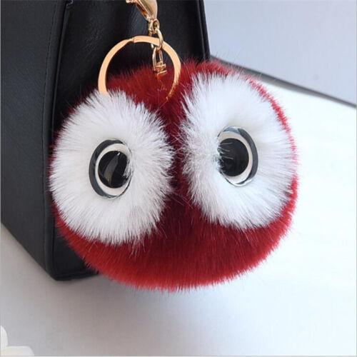 Girl Soft Faux Fur Key Chain Women Bag Charm Fluffy Pom Ball Keyring Wholesale