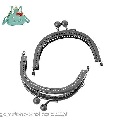 Wholesale Lots W09 Metal Frame Kiss Clasp Arch For Purse Bag 12.6cm x 7.7cm