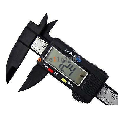 LCD Digital Electronic Carbon Fiber Vernier Caliper+5V Micro USB EU Plug Charger