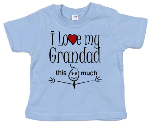 "Grand-Père Bébé T-shirt /""I Love My Grandad This Much/"" Grand Père Cadeau"