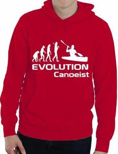 Evolution Of Canoeist Kayak Funny Mens Ladies Hoodie Gift Size S-XXL
