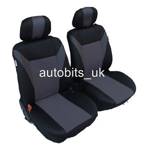 FRONT RED BLACK FABRIC SEAT COVERS 1+1 FOR RENAULT ESPACE KANGOO TRAFIC MASTER