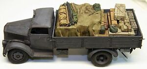 1-35-German-Truck-Load-2-Resin-Opel-Blitz-and-Tamiya-Cargo-Truck-Value-Gear