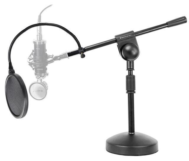 Samson MBA18 Microphone Boom Arm Studio Podcast Mic Stand+Pop Filter+ShockMount