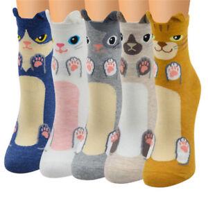 Fashion-Women-Girls-Cute-3D-Animal-Cartoon-Cat-Printed-Casual-Ankle-high-Socks