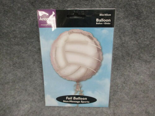 """Anagram 18/"""" Volley Ball Shaped Foil Balloon Non-Message Sports All Occasion NEW"""