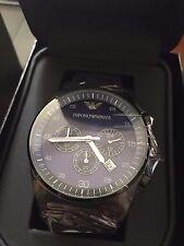 100% NEW Emporio Armani AR5921 Blue Dial Chronograph Sportivo Quartz Men's Watch