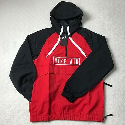Nike Air Anorak Woven Pullover jacket Men's SZ XS BlackRed BV5163 657 NWT   eBay