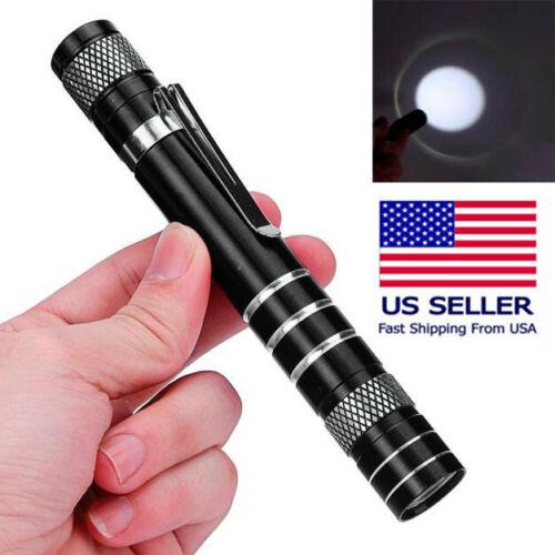 6000 lm Small Mini Q5 LED Flashlight Pocket Pen Light Work Inspection Lamp Torch