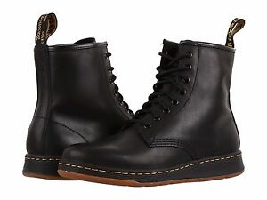 Men-039-s-Dr-Martens-Newton-8-Eye-Fahion-Boots-Black-Temperley-Leather-All-Size-NEW