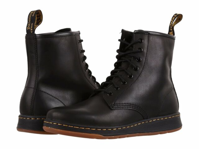 34365e64086 Men s Dr. Martens Newton 8-Eye Fahion Boots Black Temperley Leather All  Size NEW