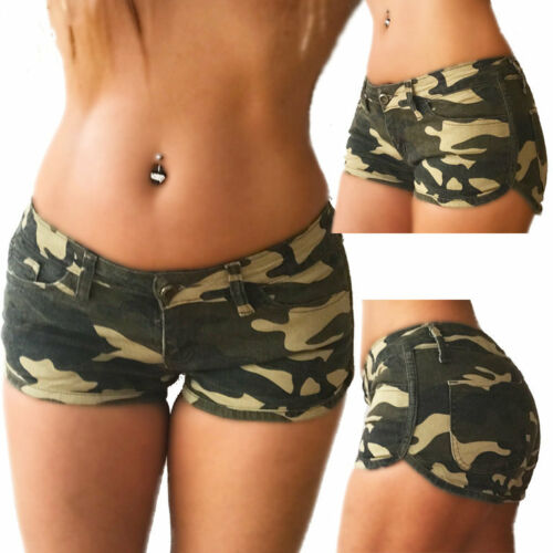 Hotpants Camouflage im Fitness Look NEW B Cute Style Army kurze Hose Sport