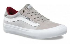 0ec28019fa VANS (STYLE 112 PRO) DRIZZLE MICRO CHIP GREY SKATE SHOES SZ 9 MENS ...