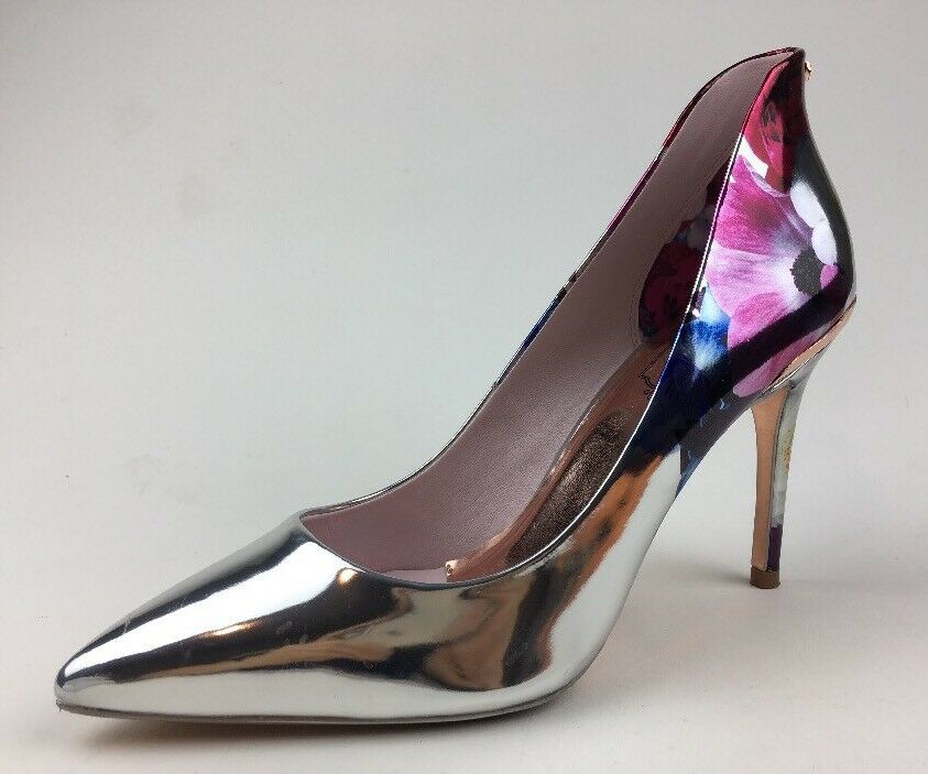 Ted Baker SAVEI High heels blueshing bouquet Silver Size EUR 40 174