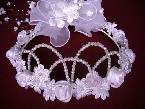 Kopfschmuck Haarschmuck Tiara Diadem Kommunion Hochzeit Kranz