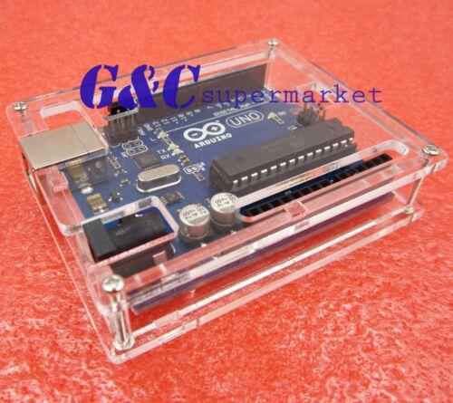 2pcs Clear Acrylic Box Enclosure Transparent Case Shell F Uno R3 Board Module