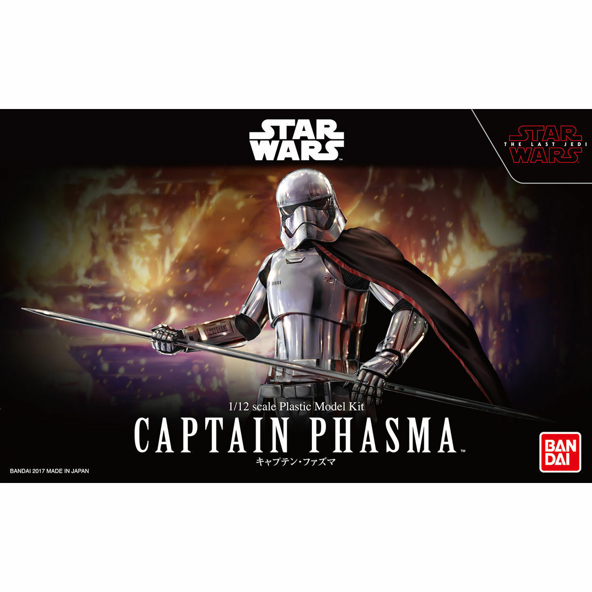 BANDAI Star Star Star Wars The Last Jedi CAPTAIN PHAZMA 1 12 Plastic Model e8051d