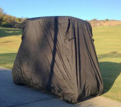 2 Passengers Golf Cart Storage Cover in Black - Fits EZ Go, Club Car, Yamaha