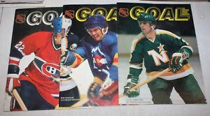 89f7a702541 Image is loading Vintage-NHL-Goal-Hockey-Program-Magazine-You-Pick