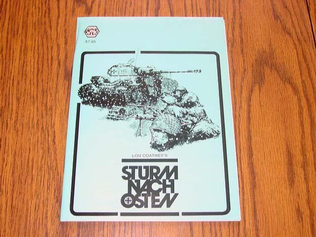 3W  1982 - STURM NACH OSTEN game - Lou Coatney's East Front  WW2 - (UNP)