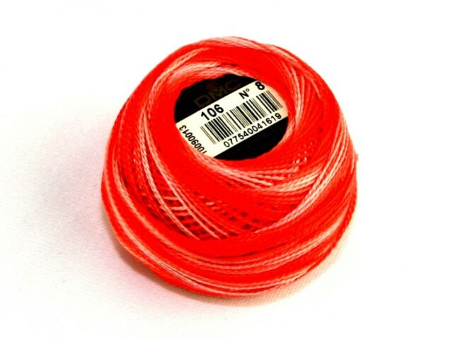 80m #760 SALMON 10g 10g Ball DMC Perle Cotton Thread No.8