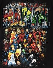 Marvel Characters T-shirt Shirt Mad Engine Black Size XL