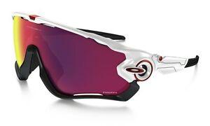 9b34aac4ef0 Oakley Jawbreaker OO9290 Cycling Glasses Sport Goggles OO9290-05 Polished  White Prizm Road