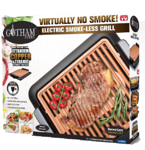 Gotham-Steel-Smokeless-Electric-Grill-Nonstick-amp-Portable-As-Seen-on-TV-NEW