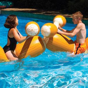 Swimline Log Flume Joust Swimming Pool Inflatable Float Game Set Ebay