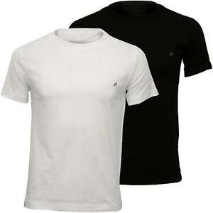 Replay-2-Pack-Crew-Neck-Men-039-s-T-Shirts-Black-White