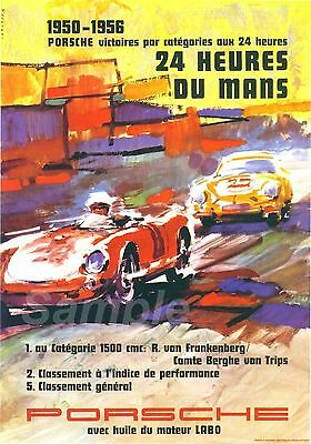 VINTAGE PORSCHE LE MANS 1950/'s RACING A3 POSTER PRINT