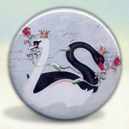 Black and White Swans Pocket Mirror tartx