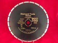 "Diamond Cutting Disc 14"" x 20 mm 350mm x 20 mm - 10mm Segment Flex Plate Blade"