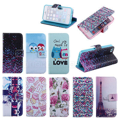 Tower Bird Leather Flip Stand Wallet Pouch Soft Case Cover For Samsung For Apple