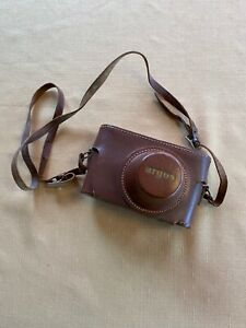 VINTAGE-ARGUS-CASE-with-STRAP-BROWN-TOP-GRAIN-COWHIDE-MADE-IN-USA