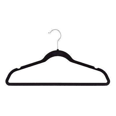 Reinforced Lightweight & Durable Velvet Non Slip Suit Clothes Hangers (100 Pack)