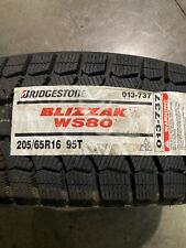 4 New 205 65 16 Bridgestone Blizzak Ws80 Snow Tires